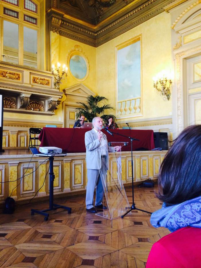 April 30, 2014; Paris, France; Jacques Brodeur, Master of Ceremonies