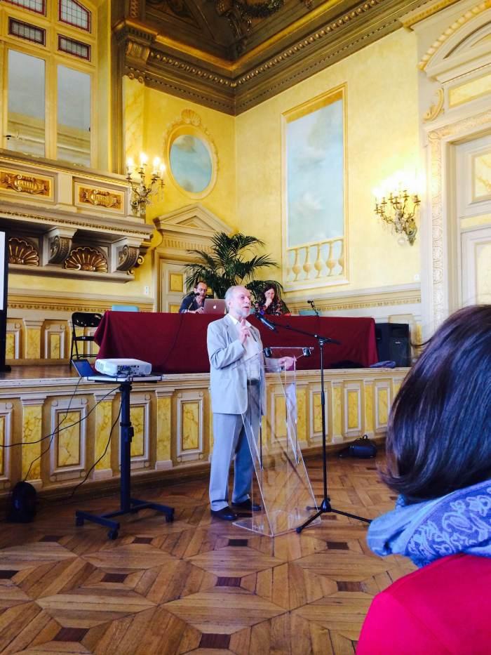 April 30, 2014; Paris, France; Jacques Brodeur, Master of Ceremonies
